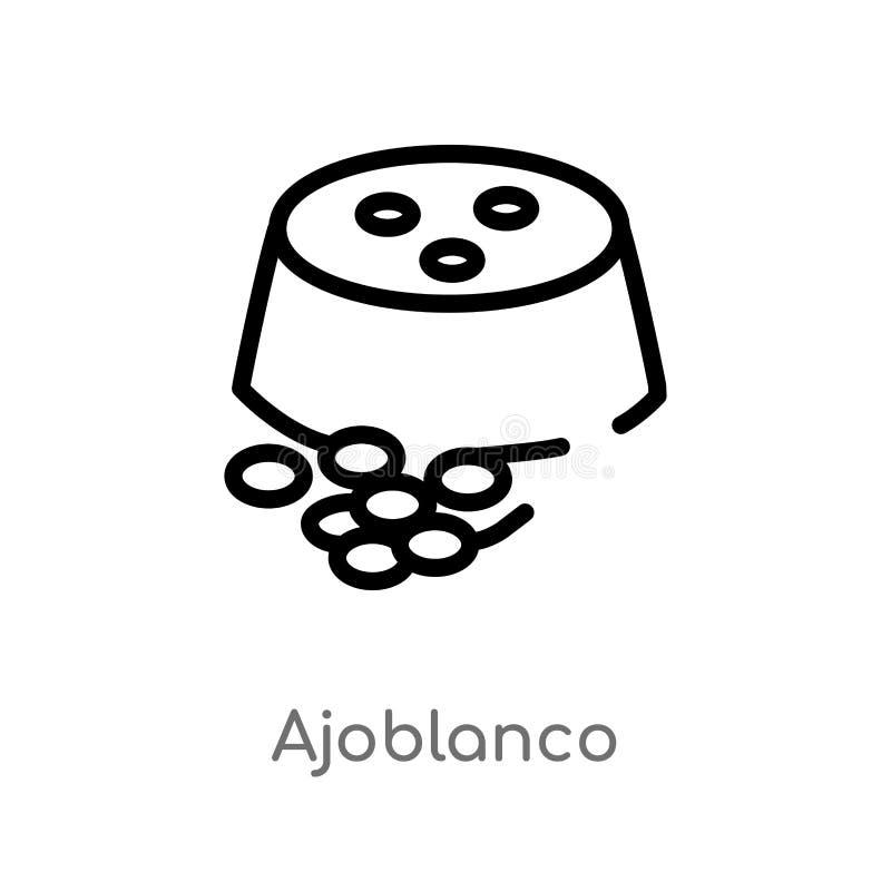 значок вектора ajoblanco плана изолированная черная простая линия иллюстрация элемента от концепции культуры Editable ход вектора бесплатная иллюстрация