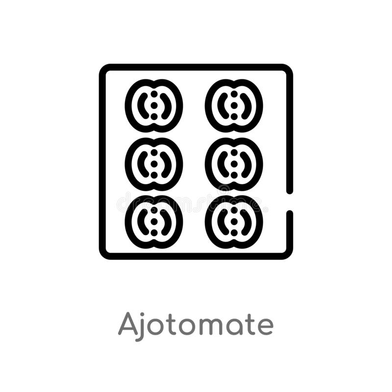 значок вектора ajotomate плана изолированная черная простая линия иллюстрация элемента от концепции культуры Editable ход вектора иллюстрация вектора