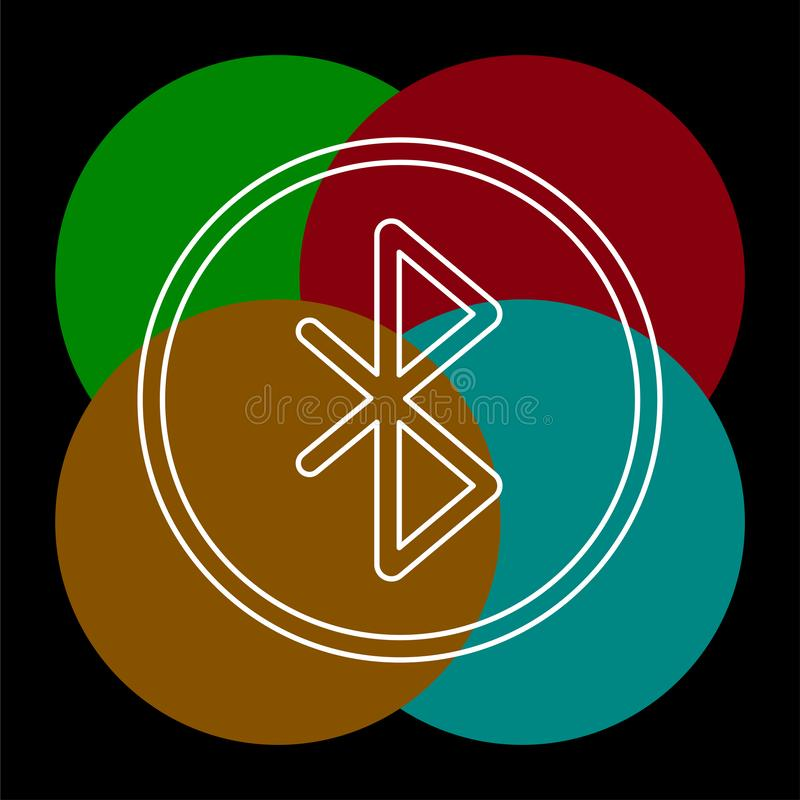 Значок вектора Bluetooth иллюстрация штока