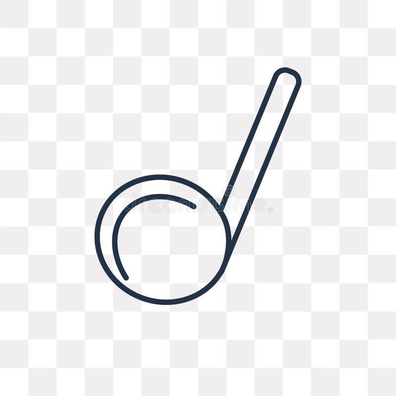 Значок вектора Crotchet изолированный на прозрачной предпосылке, линейной бесплатная иллюстрация