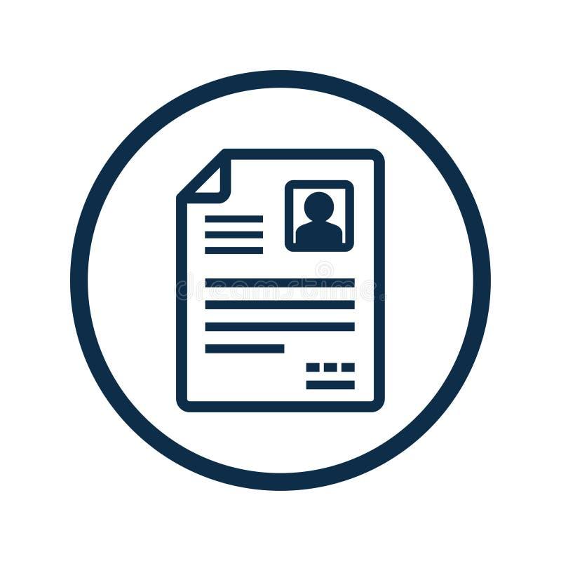 Значок вектора CV/Resume иллюстрация штока