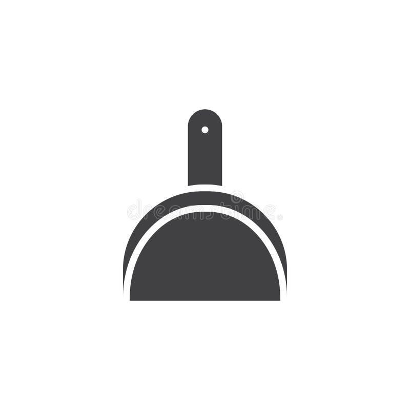 Значок вектора Dustpan иллюстрация вектора