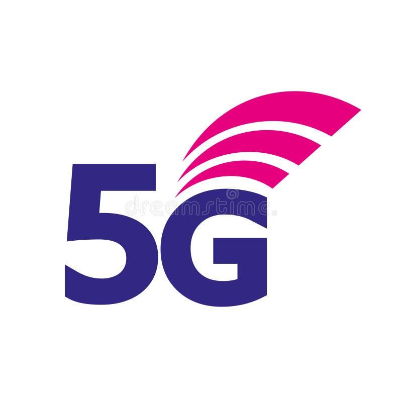 значок вектора 5G иллюстрация информационной технологии соединения интернета 5-ого поколения беспроводная Мобильные устройства иллюстрация штока