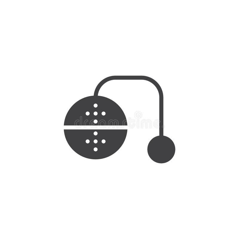 Значок вектора infuser чая иллюстрация штока