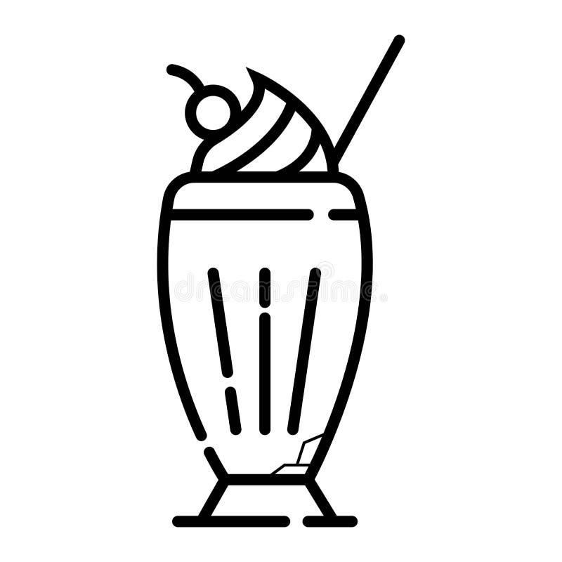 Значок вектора Milkshake иллюстрация штока