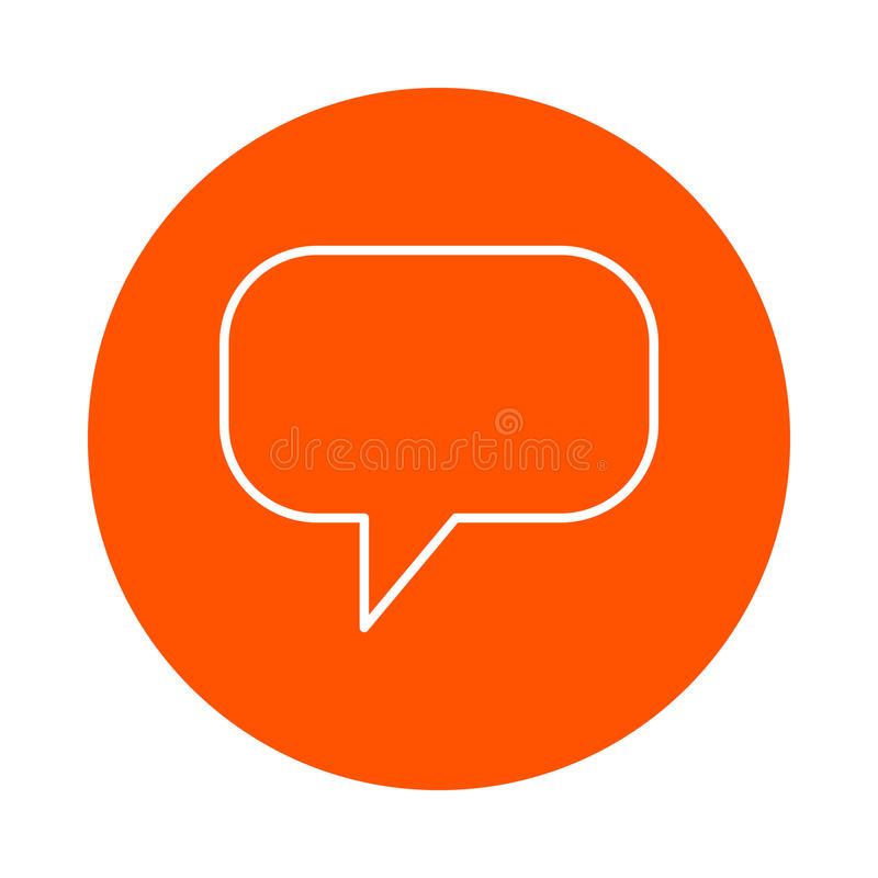 Значок вектора monochrome круглый виртуального изображения плавая в атмосферу, плоского стиля мысли бесплатная иллюстрация