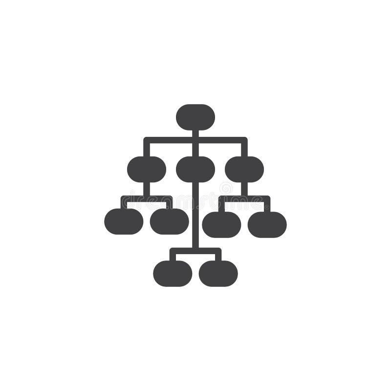 Значок вектора Sitemap иллюстрация вектора