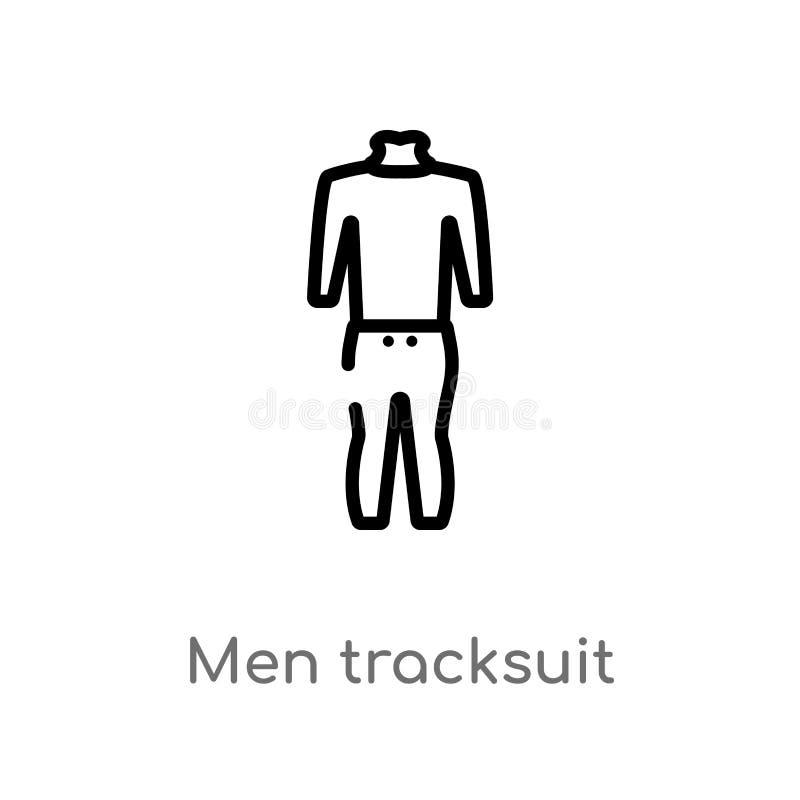 значок вектора tracksuit людей плана изолированная черная простая линия иллюстрация элемента от концепции моды editable ход векто иллюстрация штока