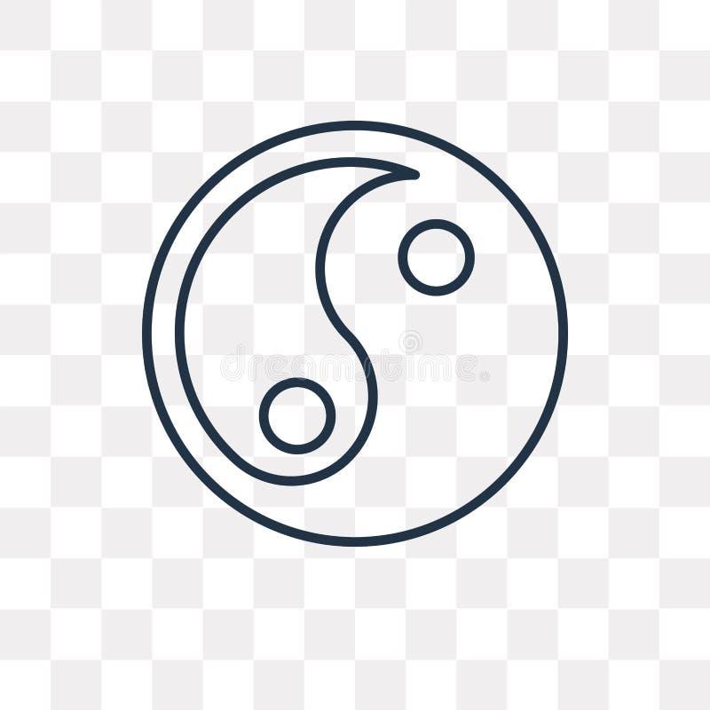 Значок вектора Yin yang изолированный на прозрачной предпосылке, линейной бесплатная иллюстрация