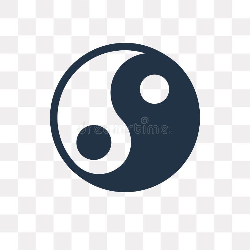 Значок вектора Yin yang изолированный на прозрачной предпосылке, Yin yan иллюстрация вектора