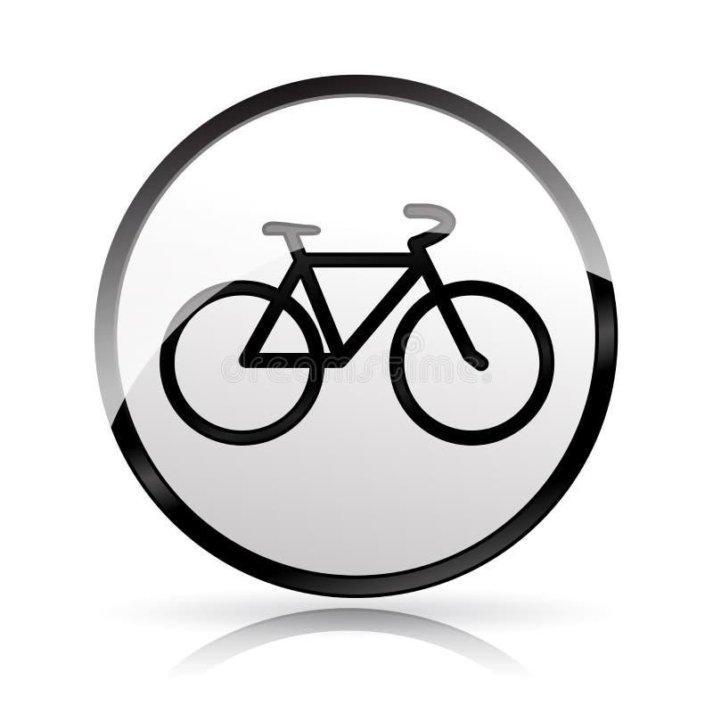 Значок велосипеда на белой предпосылке иллюстрация штока
