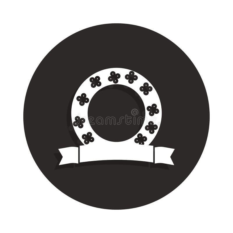 значок венка в стиле значка Одно значка собрания смерти можно использовать для UI, UX бесплатная иллюстрация