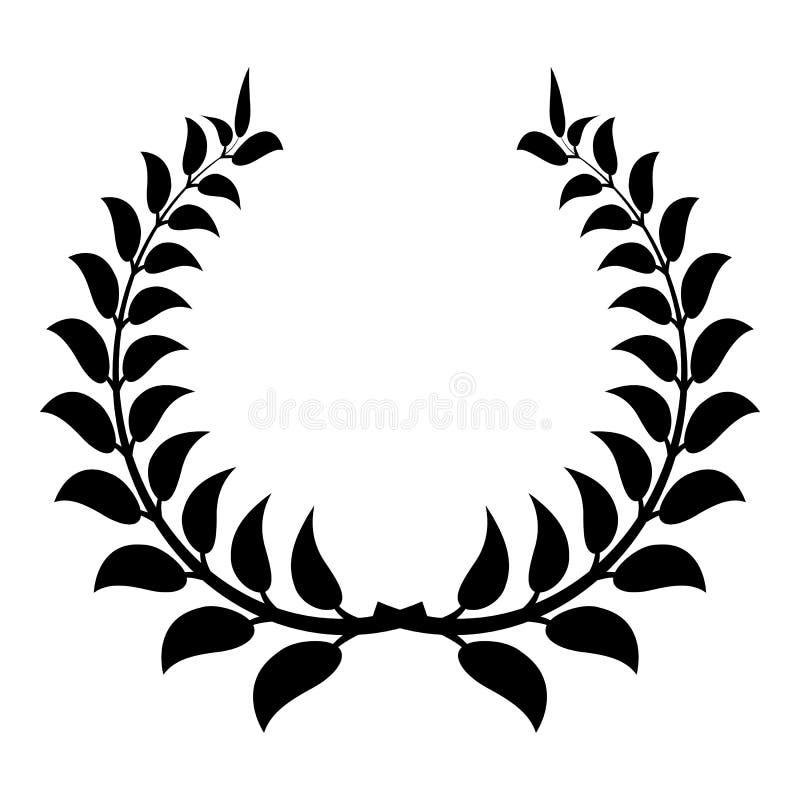 Значок венка завода, простой стиль бесплатная иллюстрация