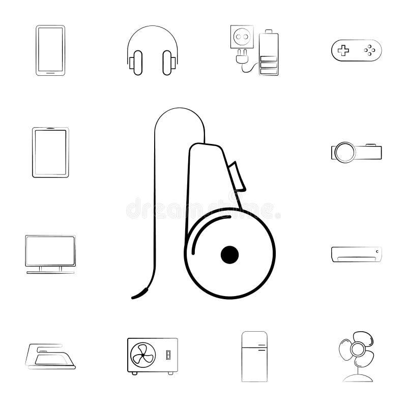Значок вентилятора Детальный комплект бытовых устройств Наградной графический дизайн Один из значков собрания для вебсайтов, веб- иллюстрация вектора