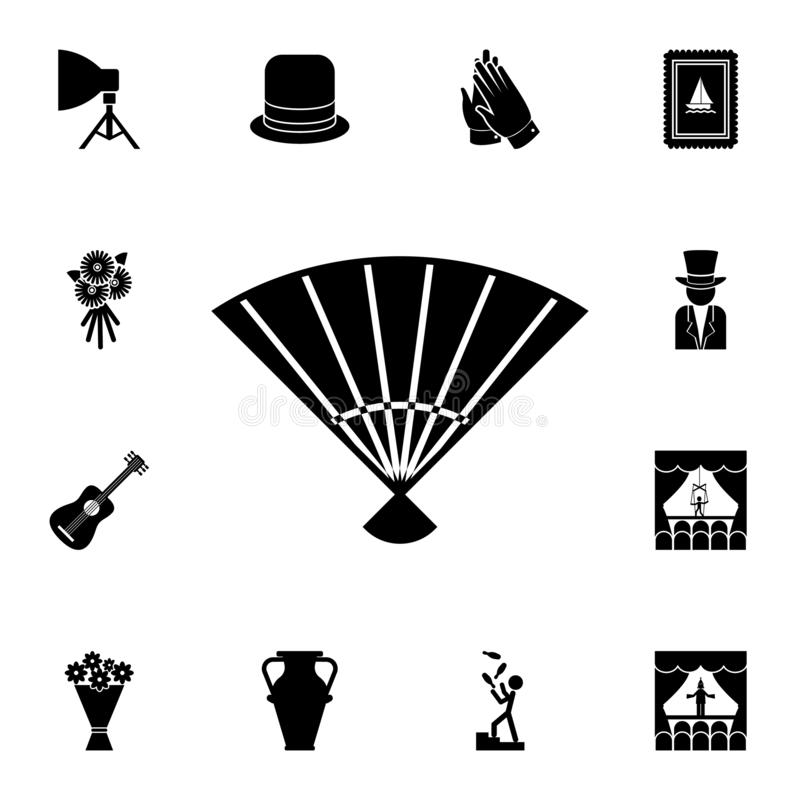 значок вентилятора театра Детальный набор значков театра Наградной графический дизайн Один из значков собрания для вебсайтов, веб иллюстрация вектора