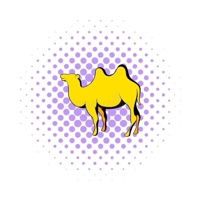 Значок верблюда в стиле комиксов иллюстрация штока