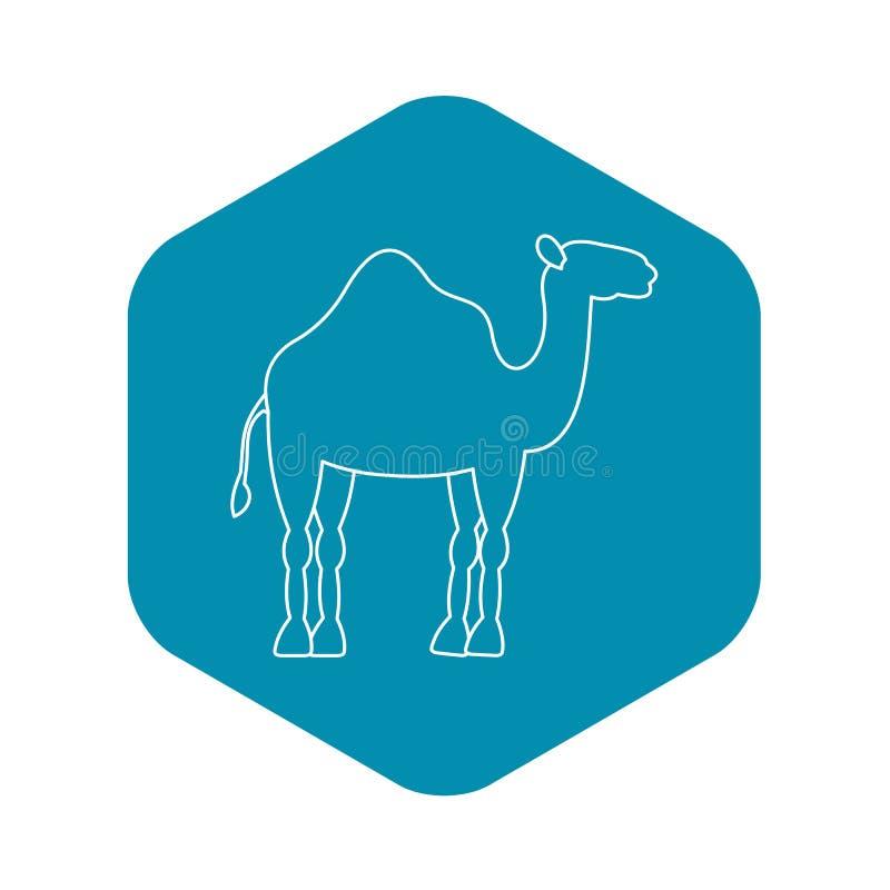 Значок верблюда дромадера, простой стиль бесплатная иллюстрация