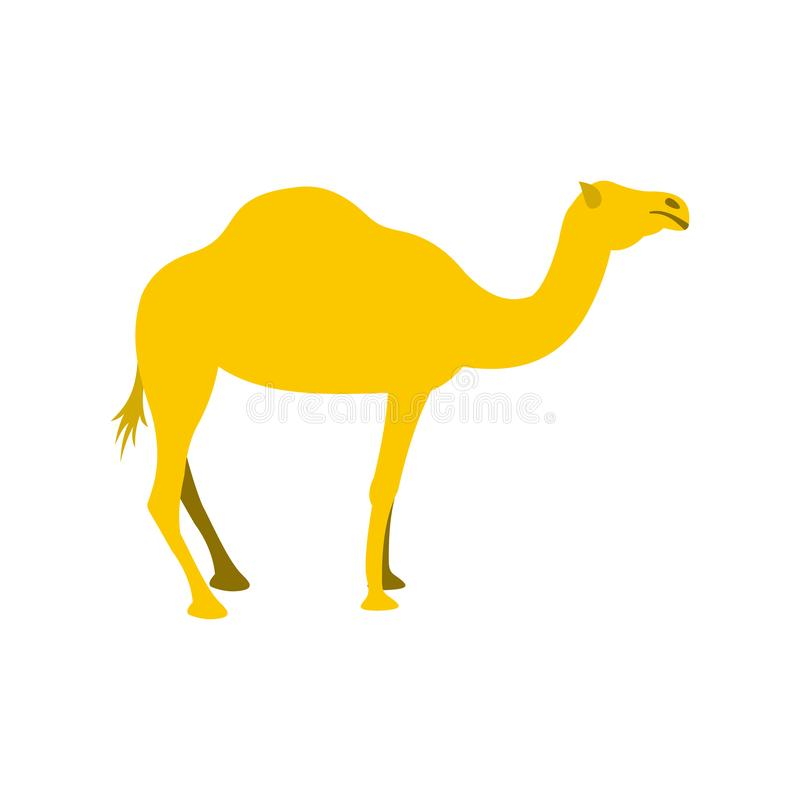 Значок верблюда, плоский стиль иллюстрация штока