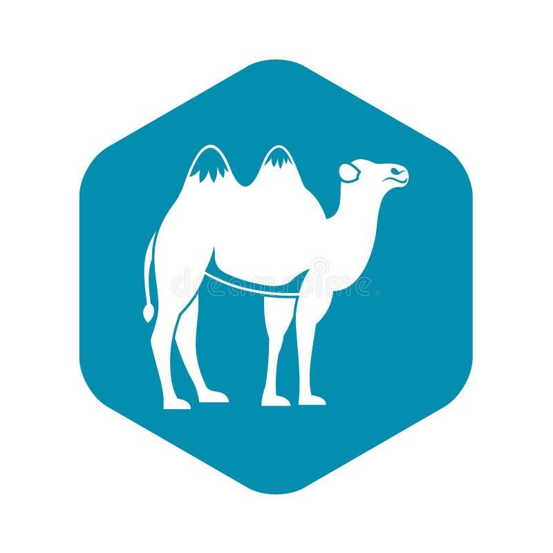 Значок верблюда, простой стиль бесплатная иллюстрация