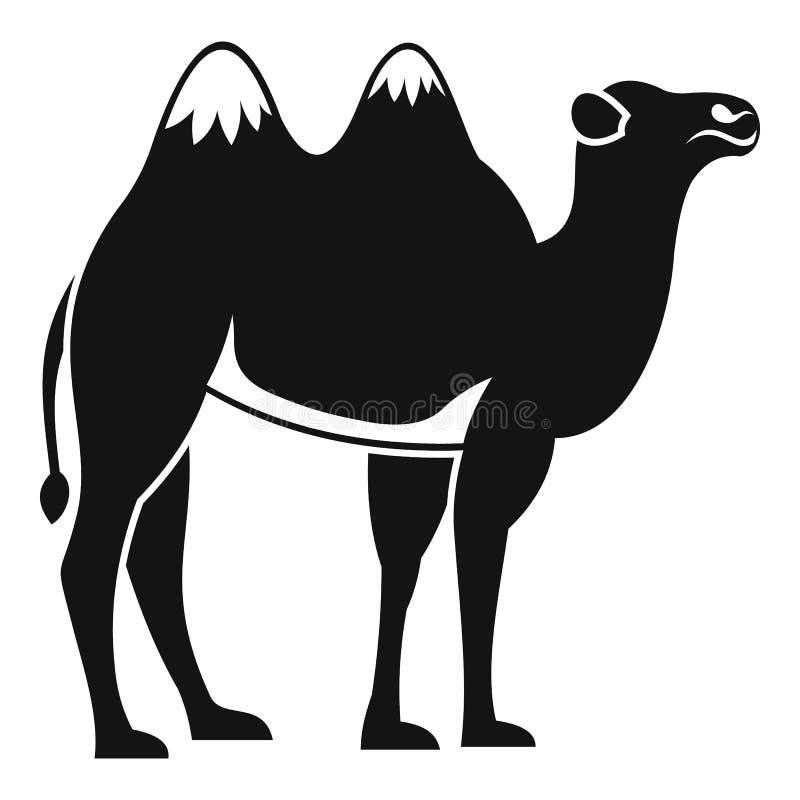 Значок верблюда, простой стиль иллюстрация штока