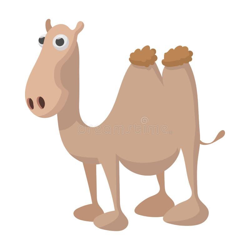 Значок верблюда, стиль шаржа иллюстрация вектора