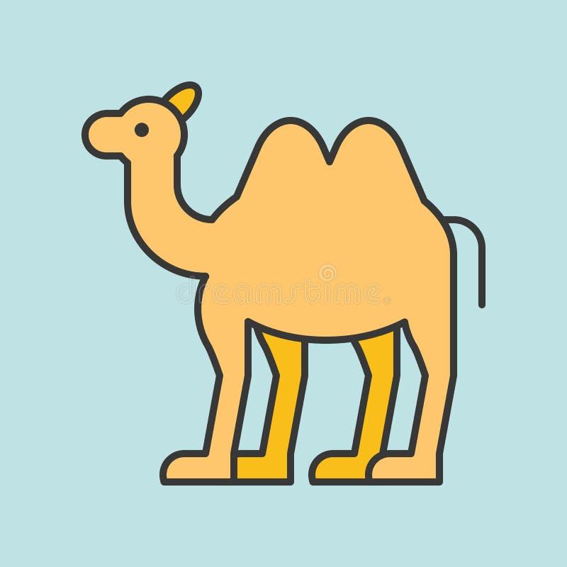Значок верблюда иллюстрация штока