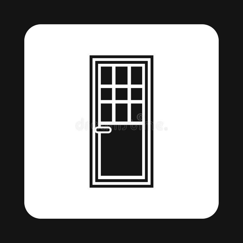 Значок двери живущей комнаты, простой стиль иллюстрация штока