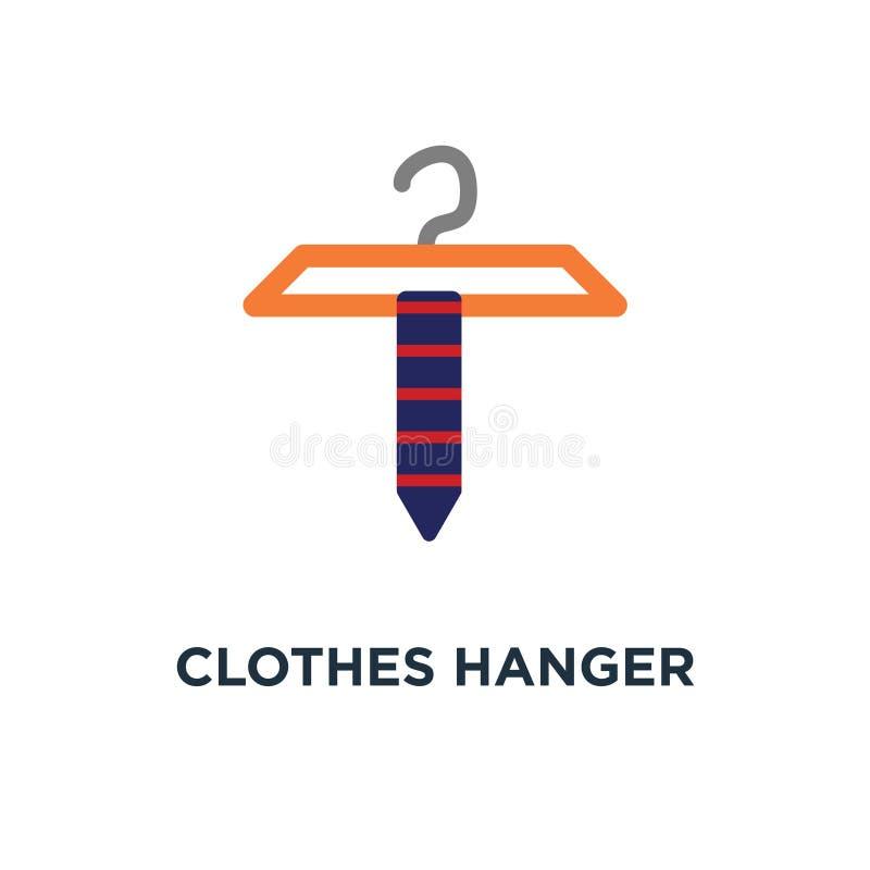 Значок вешалки одежд объект моды, symbo концепции одежд магазина иллюстрация штока