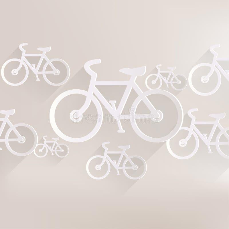 Значок велосипеда битника ретро иллюстрация штока