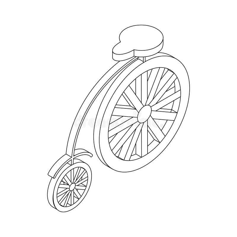 Значок велосипеда, равновеликое 3d бесплатная иллюстрация