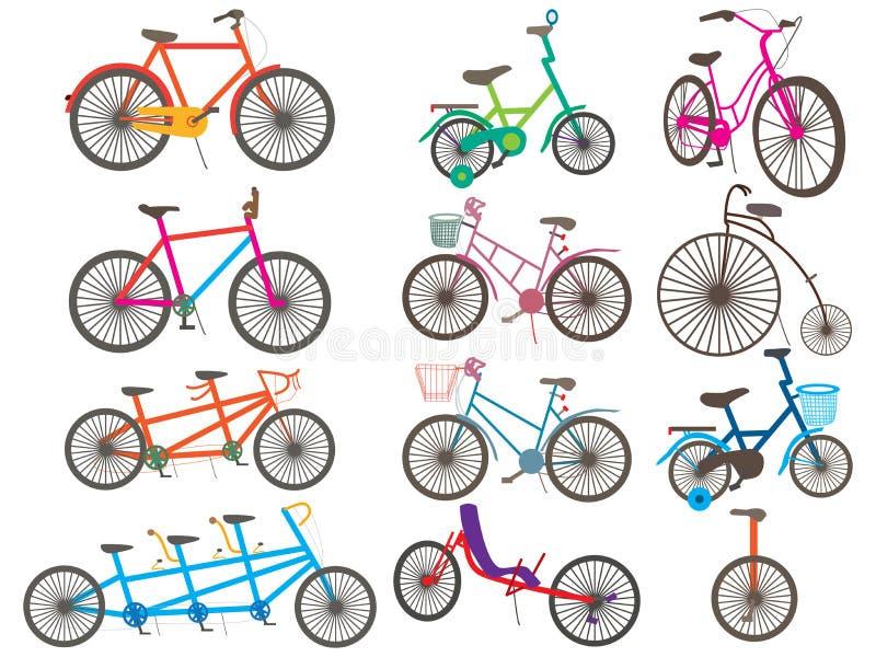 Значок велосипеда установленный иллюстрация штока