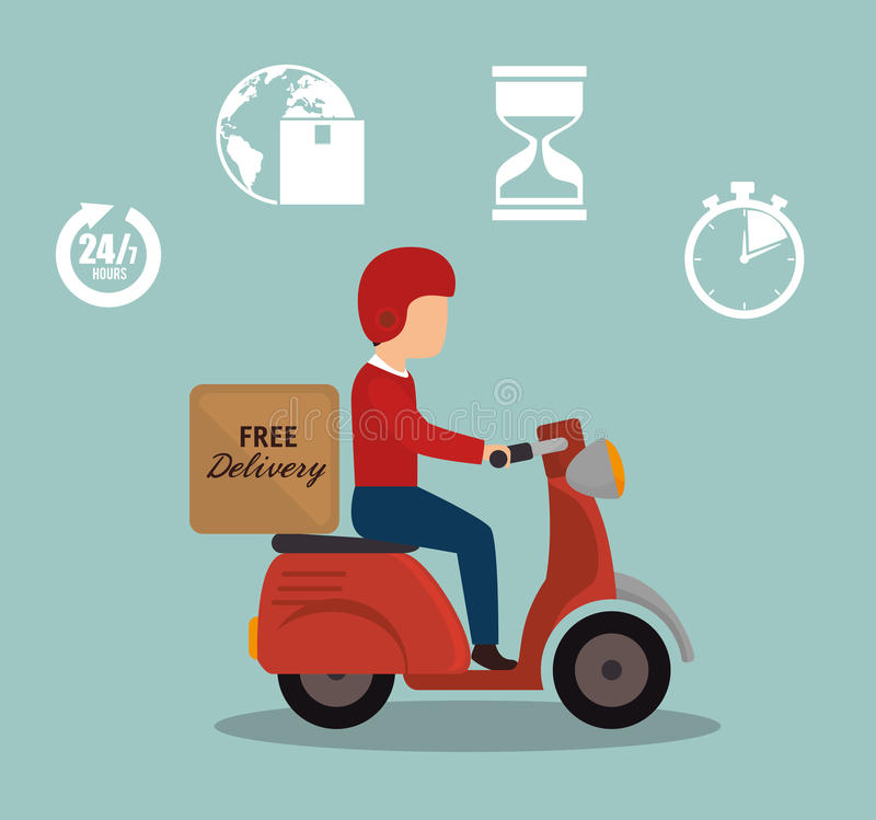 значок велосипеда motr водителя мальчика бесплатной доставки установленный иллюстрация штока