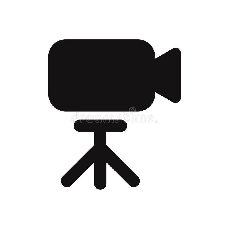 Значок видеокамеры, вектор камеры изолированный на белой предпосылке иллюстрация вектора