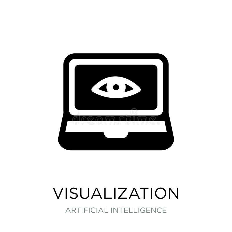 значок визуализирования в ультрамодном стиле дизайна Значок визуализирования изолированный на белой предпосылке значок вектора ви иллюстрация вектора