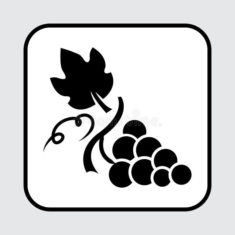Значок виноградины E r иллюстрация штока