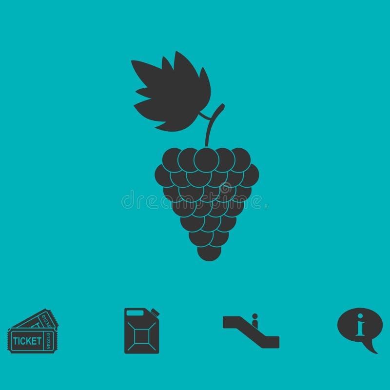 Значок виноградин плоский иллюстрация штока