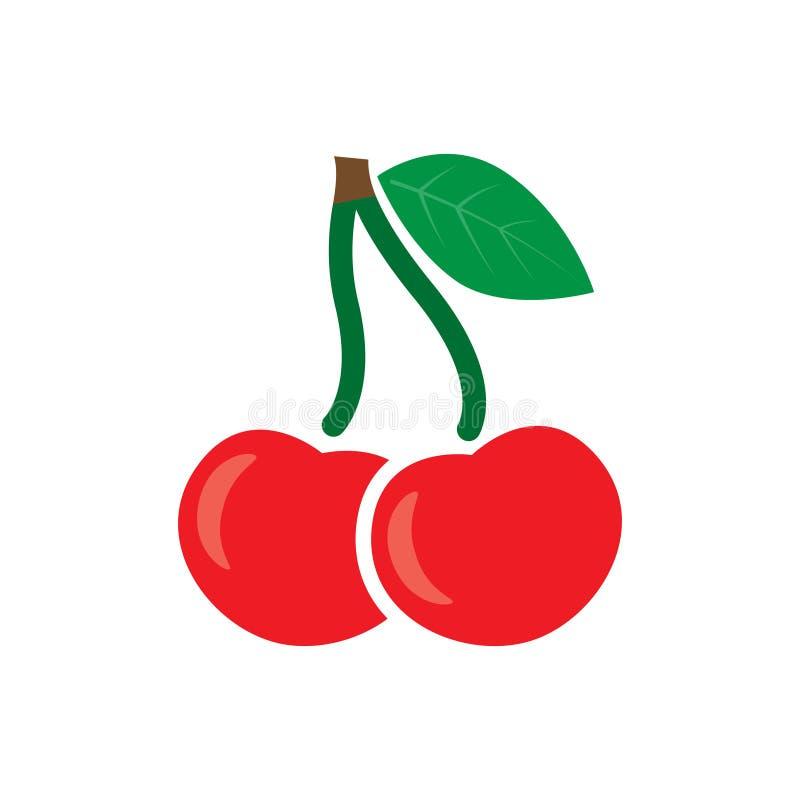 Значок вишни, сладостные вишни, вектор иллюстрация вектора