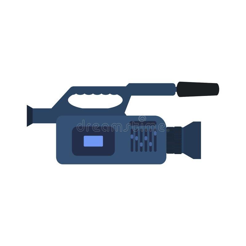 Значок видеокамеры вектора профессиональный иллюстрация штока