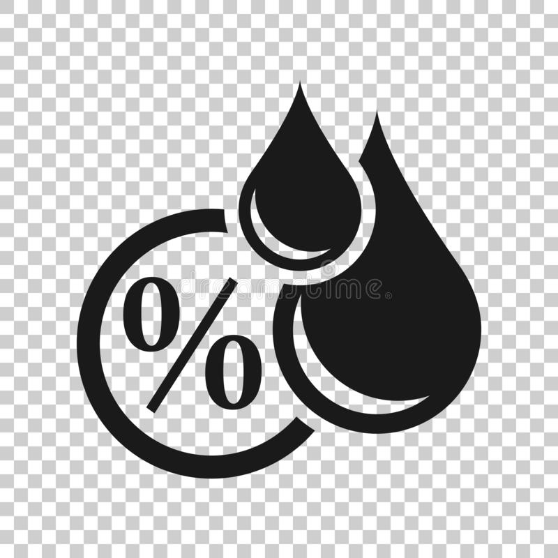 Значок влажности в прозрачном стиле Иллюстрация вектора климата на изолированной предпосылке Концепция дела прогноза температуры иллюстрация штока