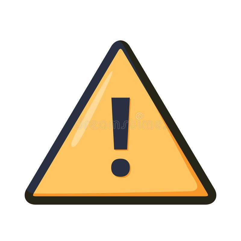 Значок внимания больше моего знака портфолио подписывает предупреждение Восклицательный знак также вектор иллюстрации притяжки co иллюстрация вектора