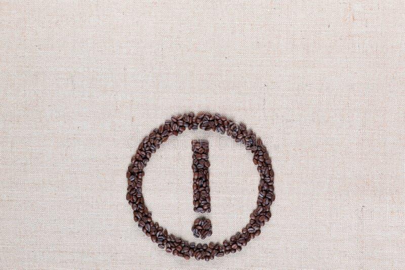 Значок внимания в центре linea выровнянном текстурой нижнем стоковые изображения rf