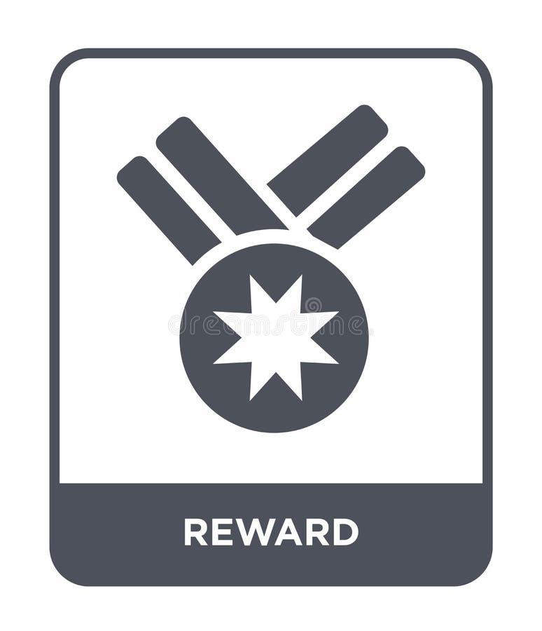 значок вознаграждением в ультрамодном стиле дизайна Значок вознаграждением изолированный на белой предпосылке символ значка векто иллюстрация штока