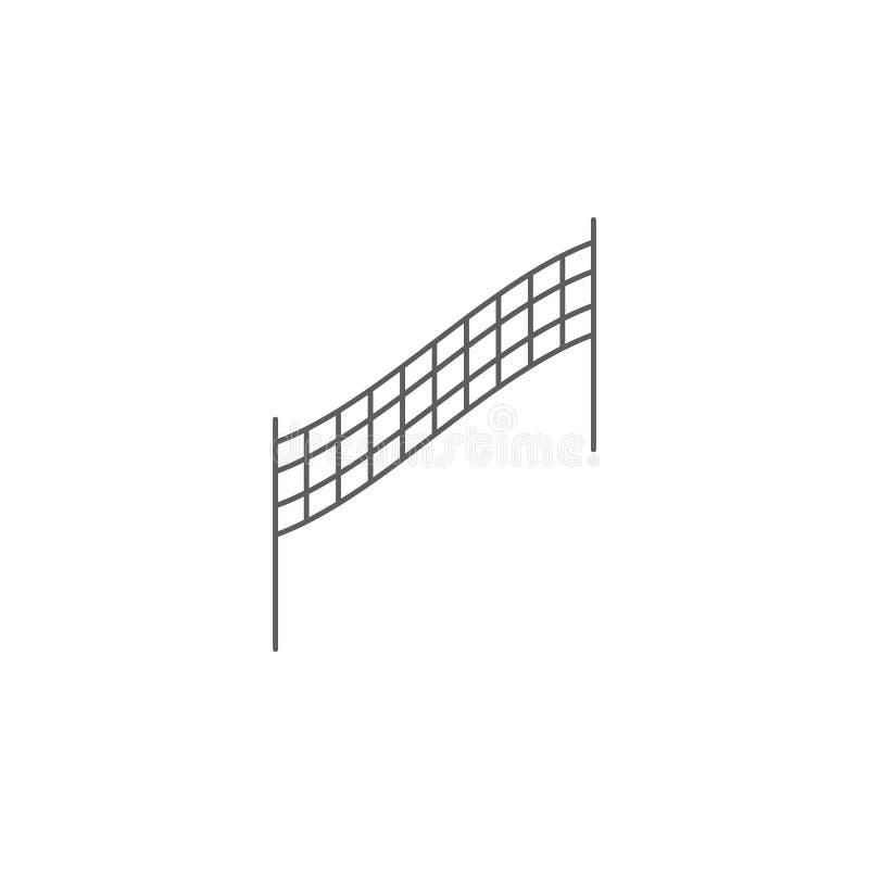 значок волейбола сетчатый Элемент спорта для передвижных apps концепции и сети Значок для дизайна вебсайта и развития, развития a иллюстрация вектора