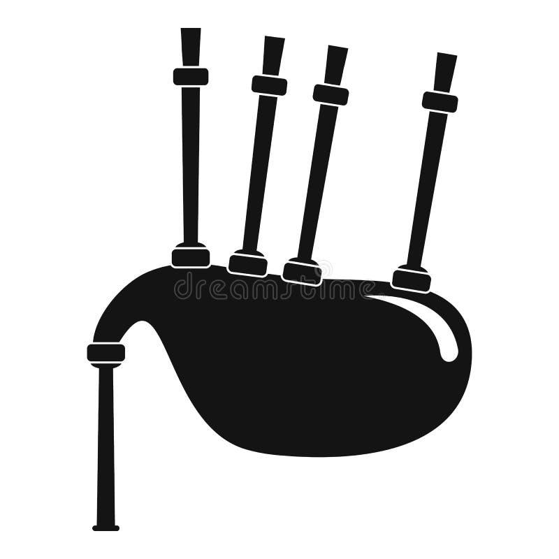 Значок волынок, простой стиль иллюстрация штока