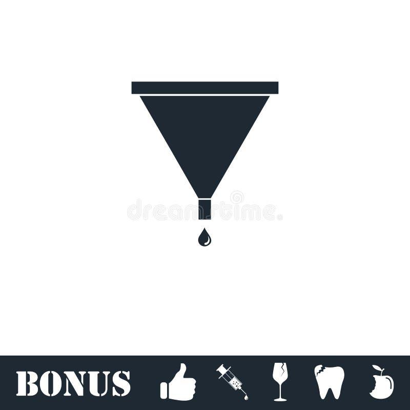 Значок воронки фильтра плоско бесплатная иллюстрация