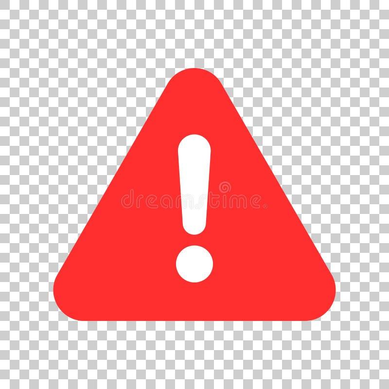 Значок восклицательного знака в плоском стиле Illustr вектора сигнала тревоги опасности иллюстрация вектора