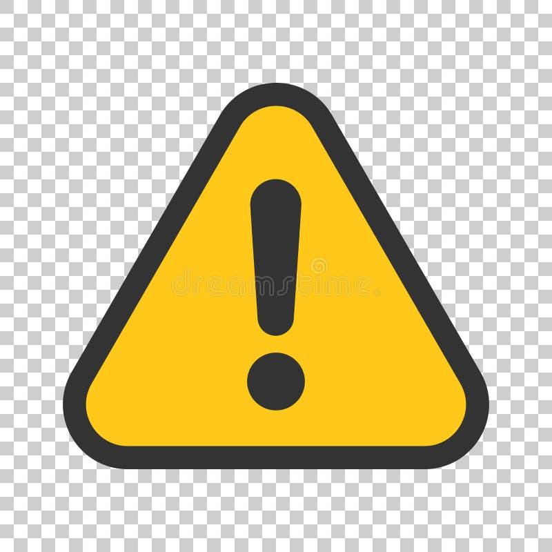 Значок восклицательного знака в плоском стиле Illustr вектора сигнала тревоги опасности иллюстрация штока