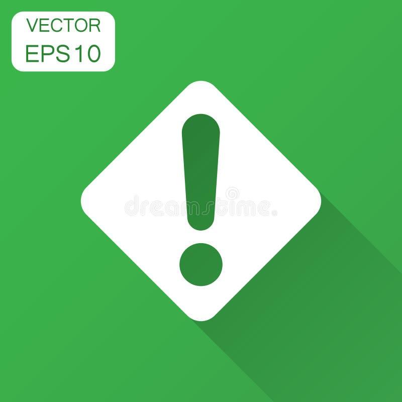 Значок восклицательного знака в плоском стиле Illustr вектора сигнала тревоги опасности бесплатная иллюстрация