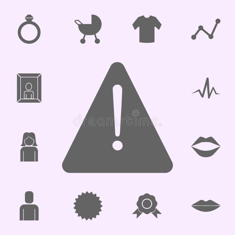 значок восклицательного знака набор значков сети всеобщий для сети и черни иллюстрация вектора