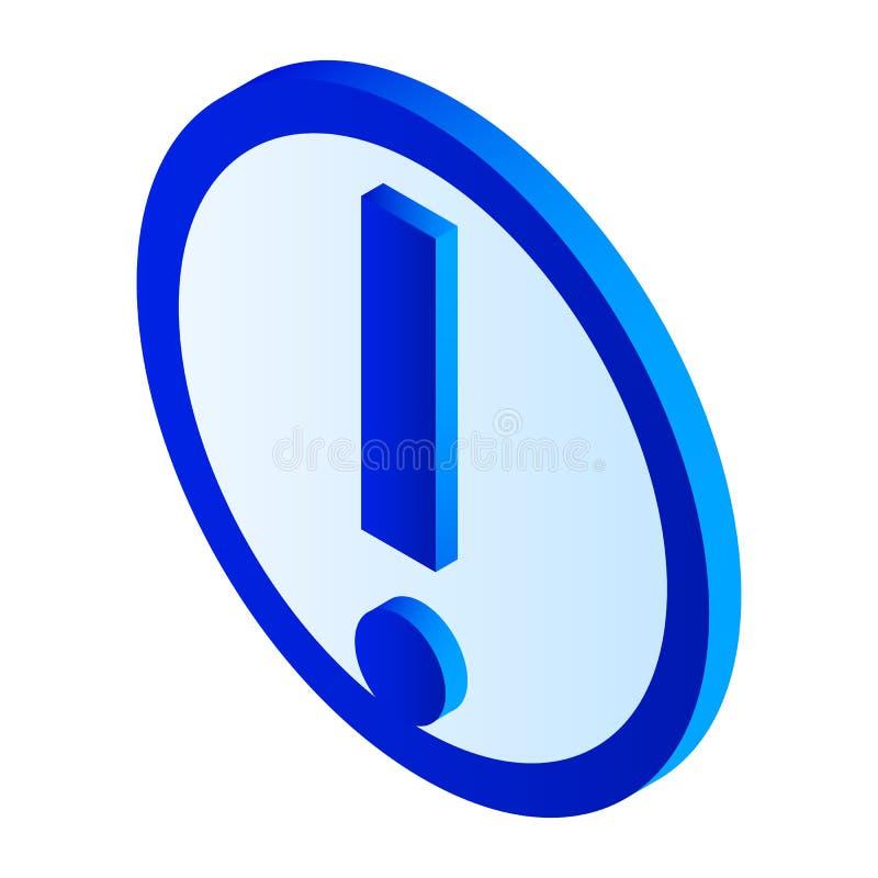 Значок восклицательного знака, равновеликий стиль бесплатная иллюстрация